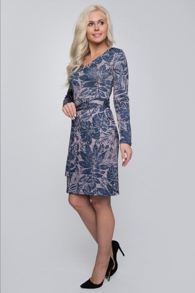 Теплое трикотажное платье Malina Style 200