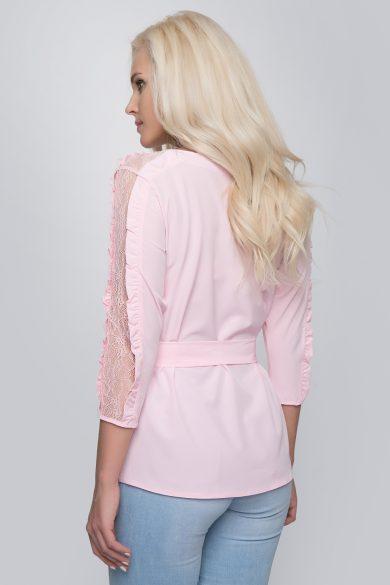 Блуза с кружевом Malina Style 201