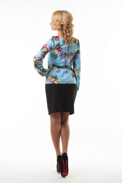 Блуза с цветочным принтом Malina Style (150)